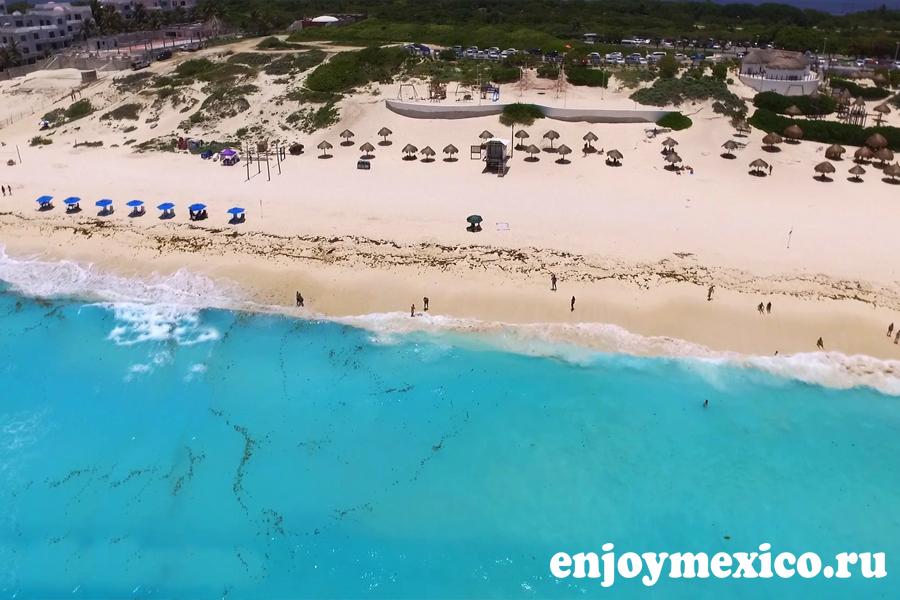 фото дрон пляж канкуна дельфинес