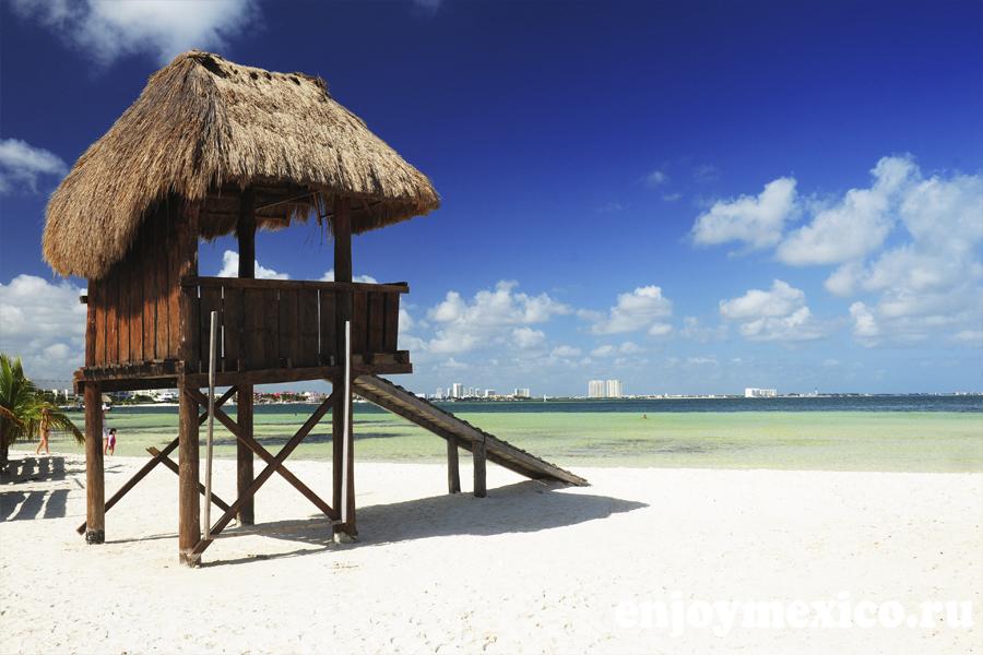фото пляж в канкуне лангоста