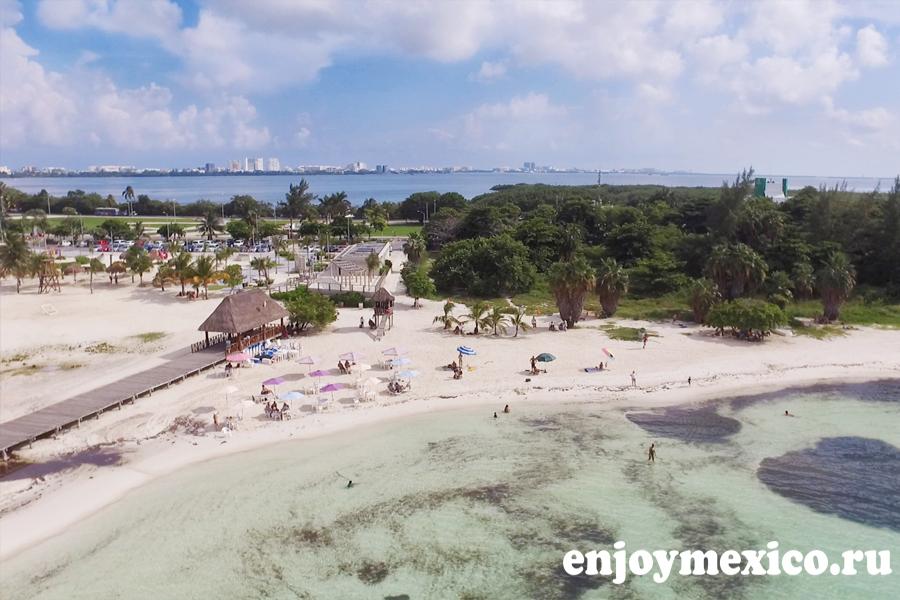 лангоста пляж в канкуне фото с дрона