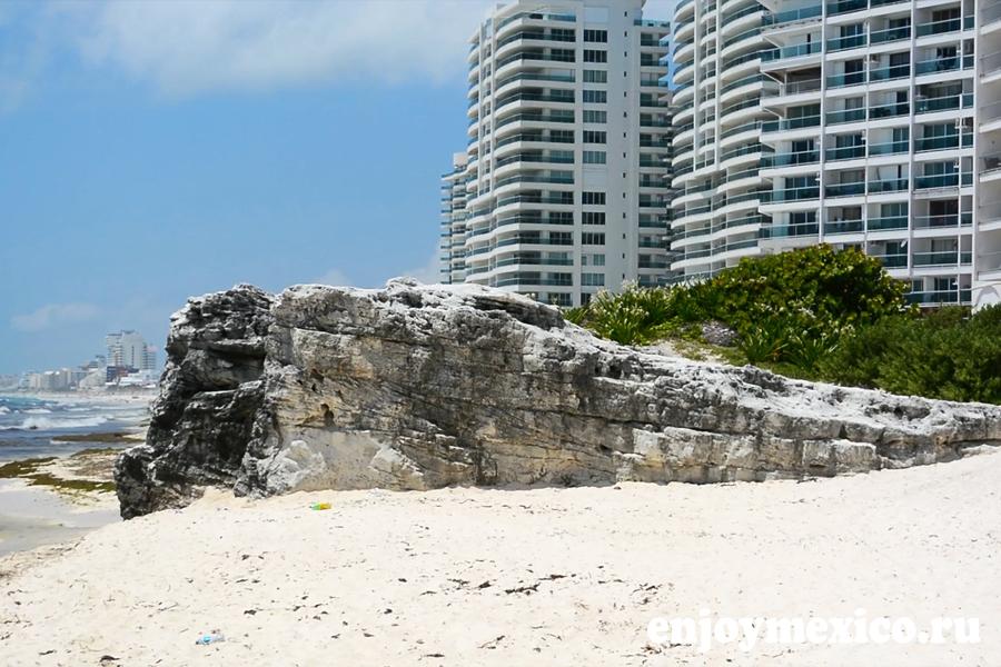 пляж канкуна гавиота азуль фото