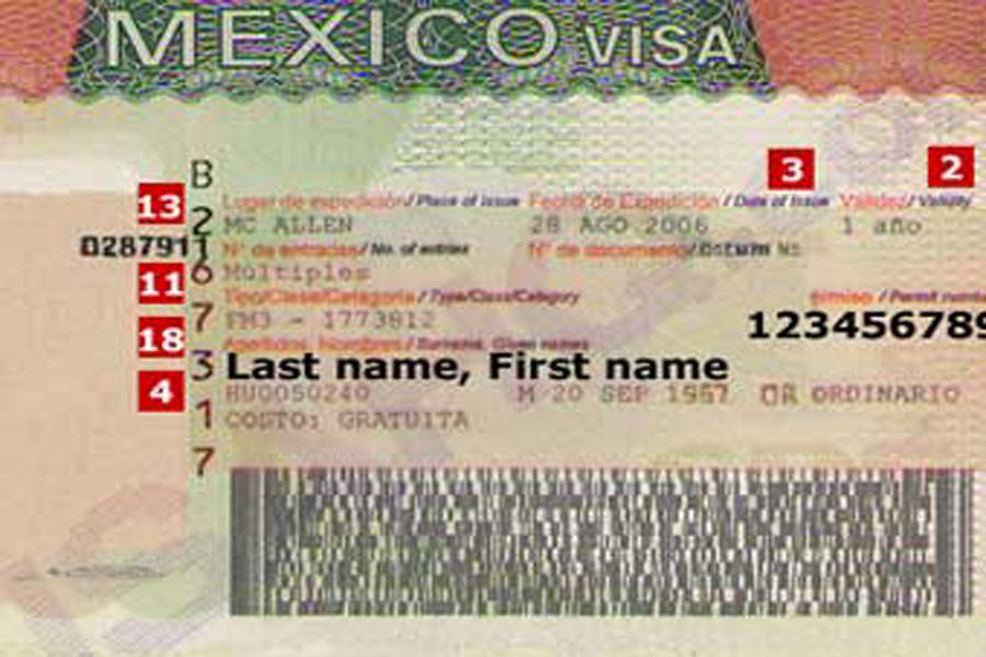 виза в мексику россия