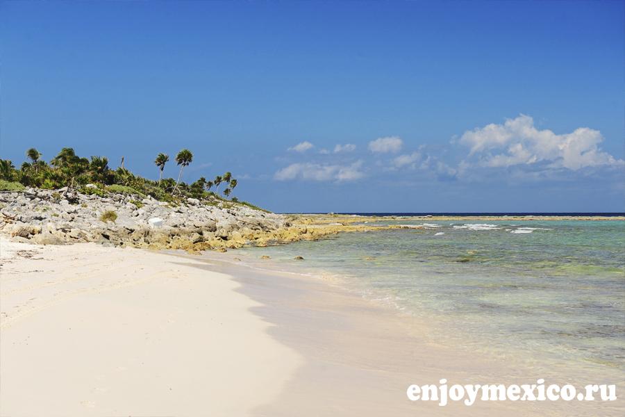 красивый пляж xcacel мексика