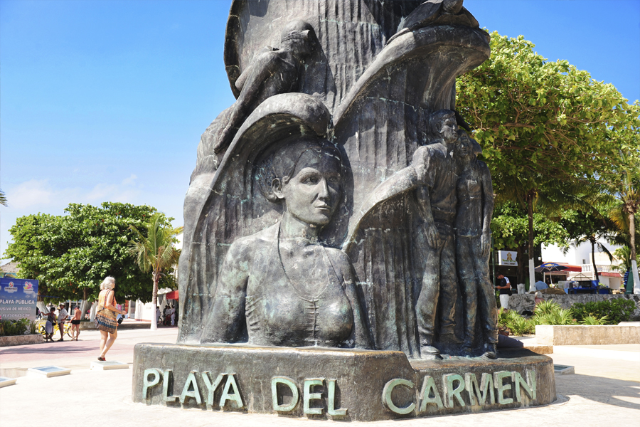 плая дель кармен мексика памятник