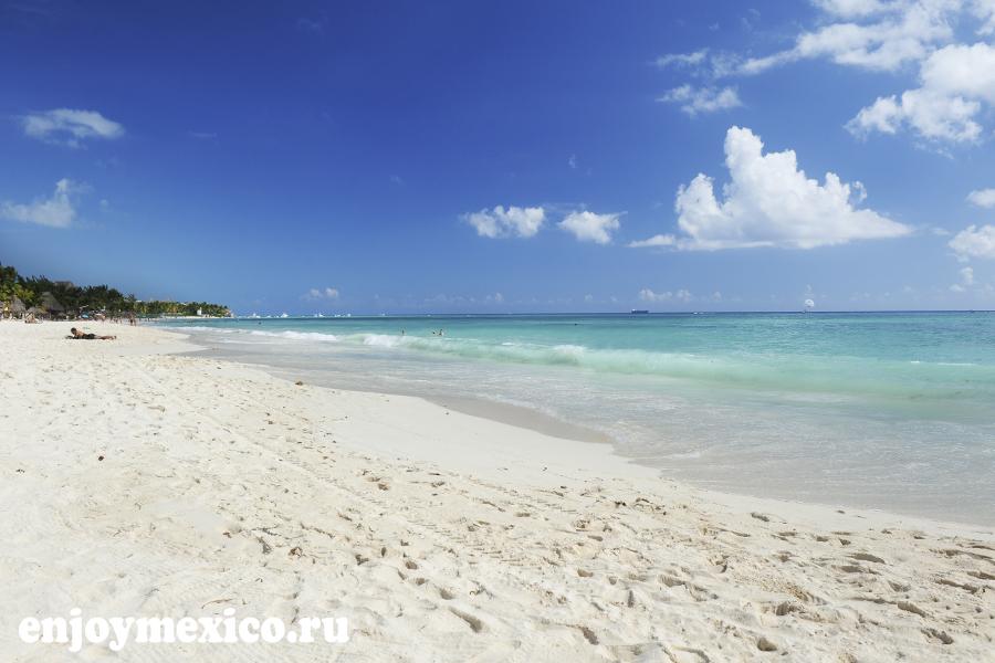 плая дель кармен мексика пляж мамитас