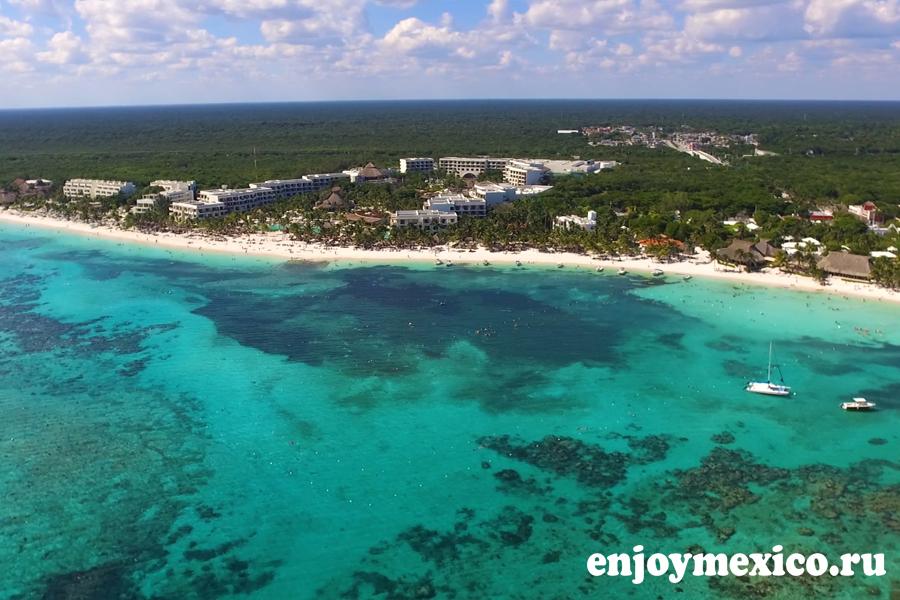 пляж акумаль мексика фото с дрона