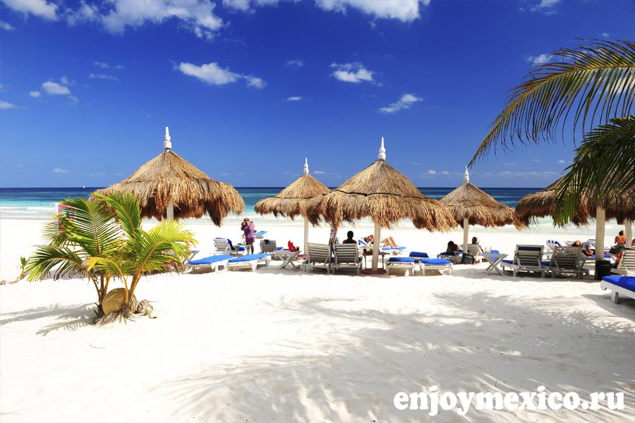 пляжи тулум мексика