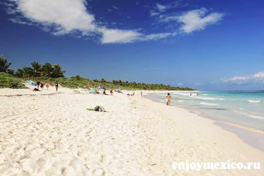 вход на пляж мексика