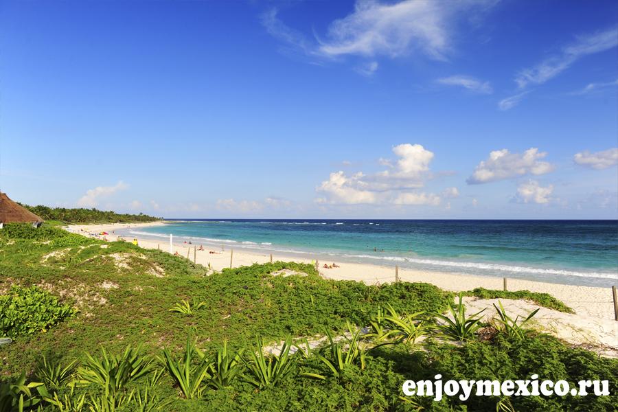 xcacel пляж мексика