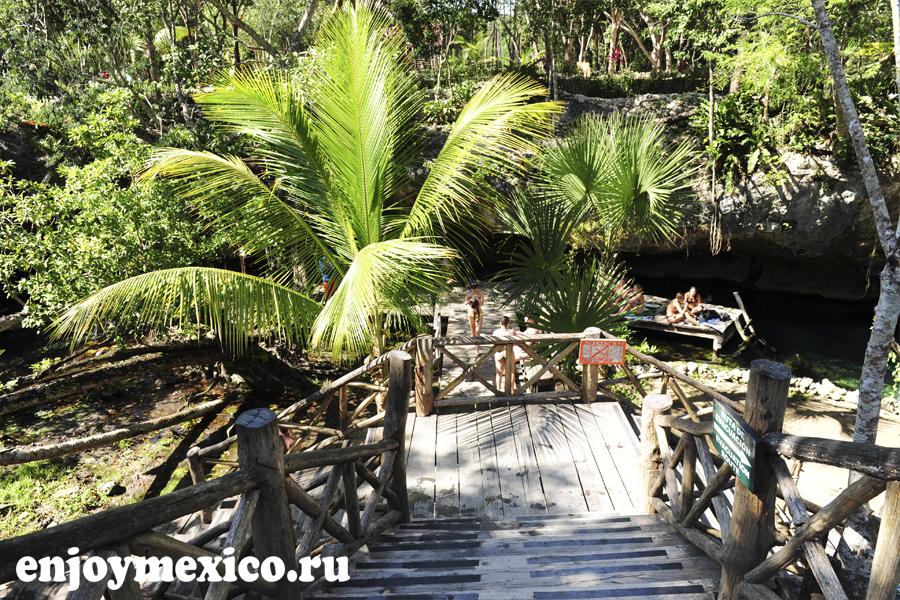 вход гранд сенот Мексика