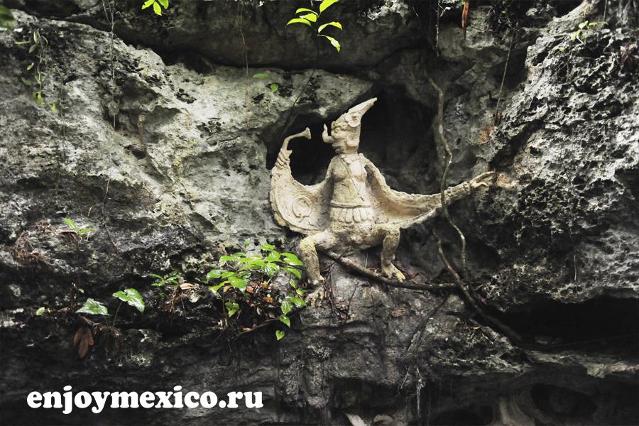 скульптура сенот кантучи ривьера майя