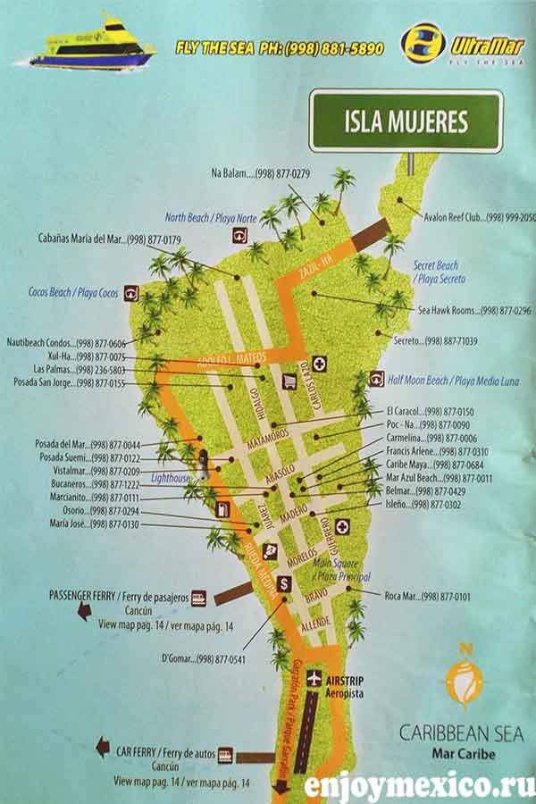 карта исла мухерес