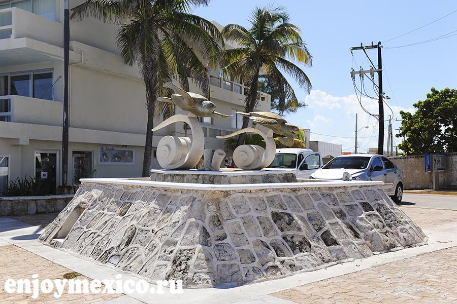 памятник черепахам на острове женщин