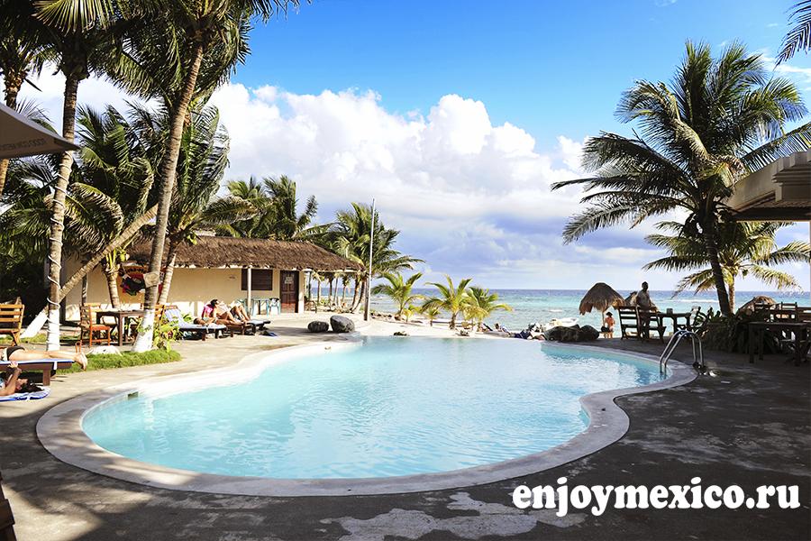 бассейн пляж паамуль ривьера майя