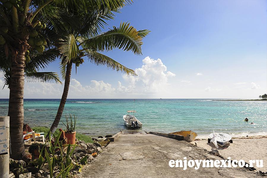 красивый пляж в мексике