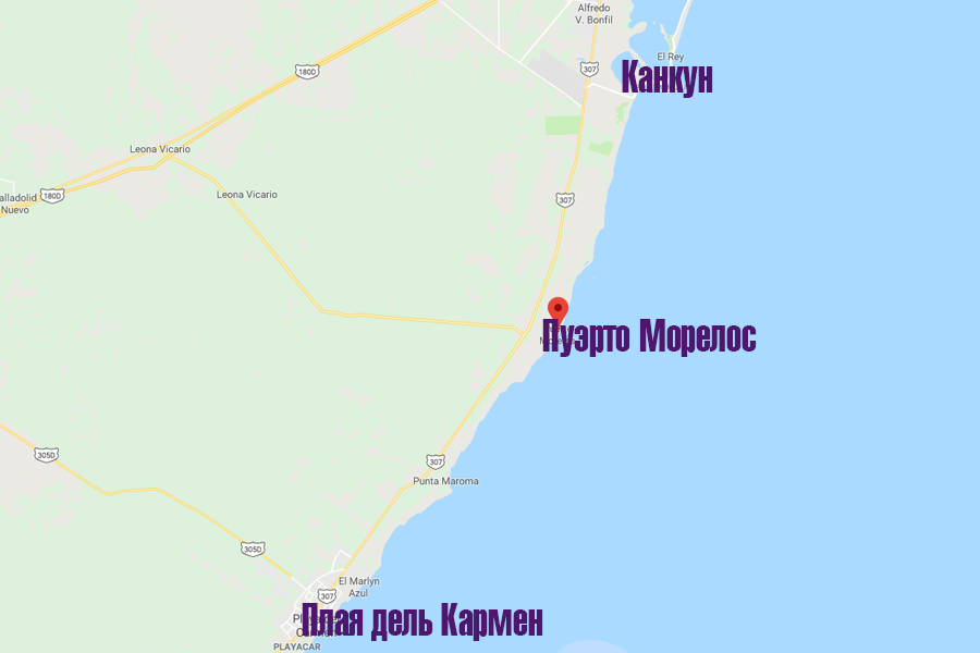 пуэрто морелос карта