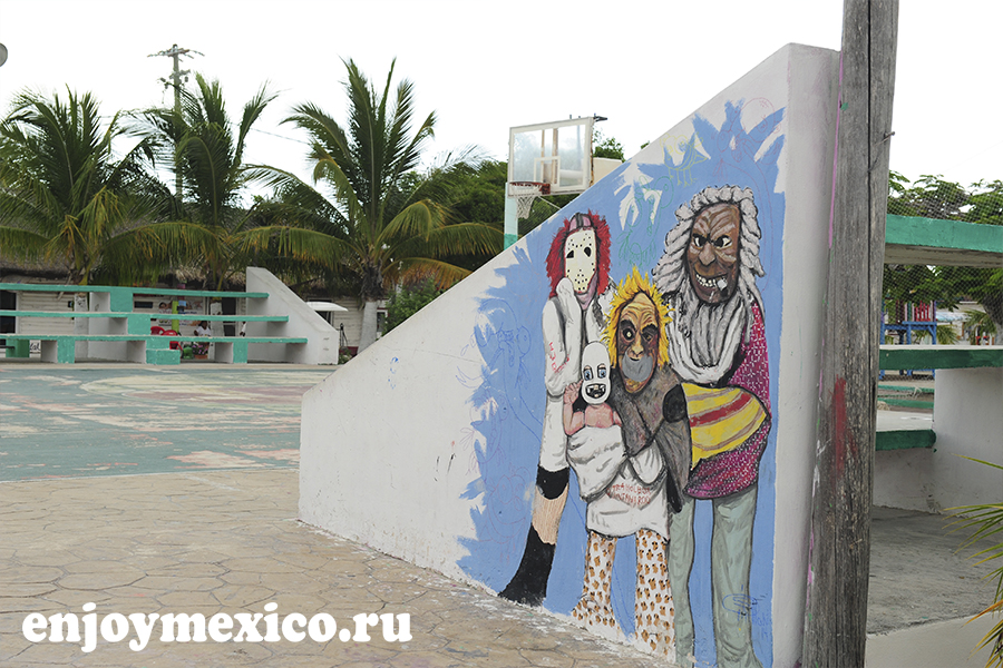 рисунок на стене фото остров