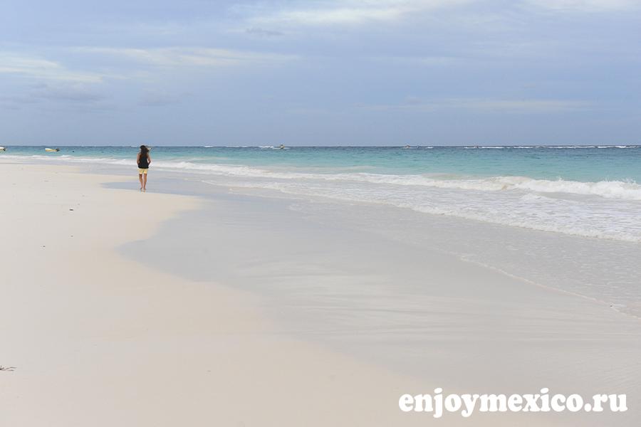 красивый пляж в тулуме