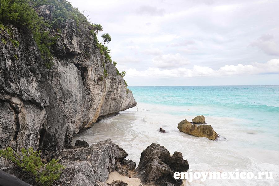 мексика тулум пляж на территории руин