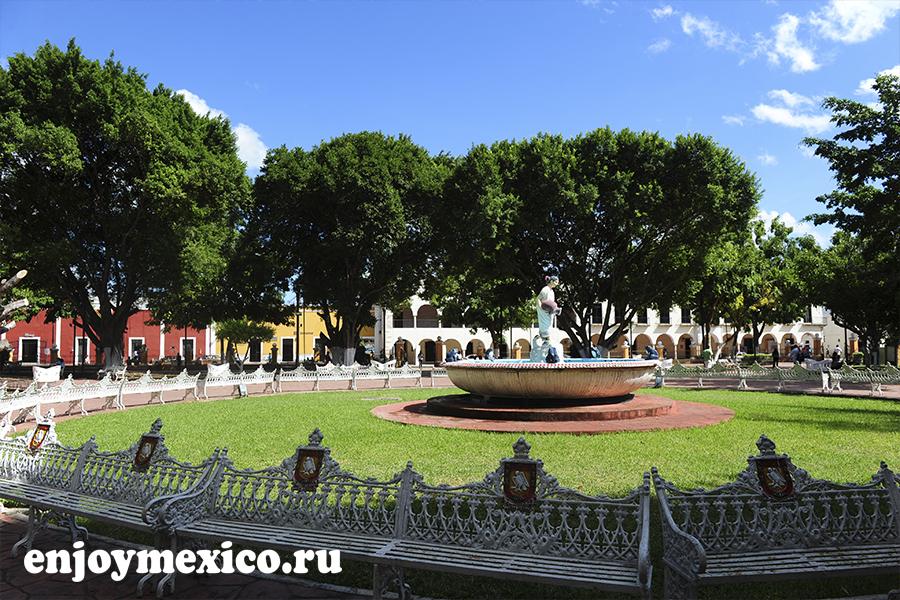 парк в центре вальядолид мексика