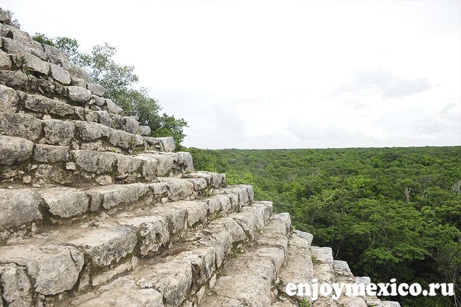 пирамида коба мексика лестница