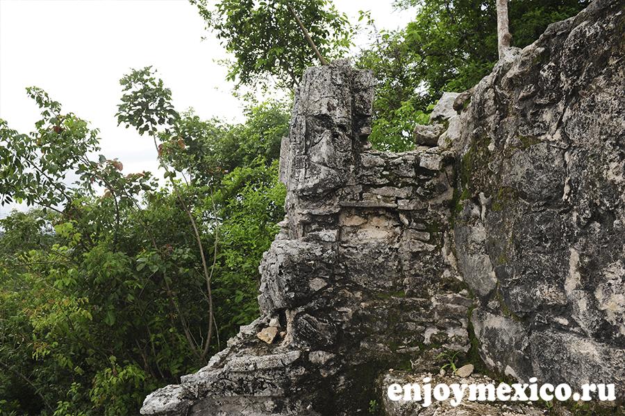 пирамида коба мексика заброшенная статуя