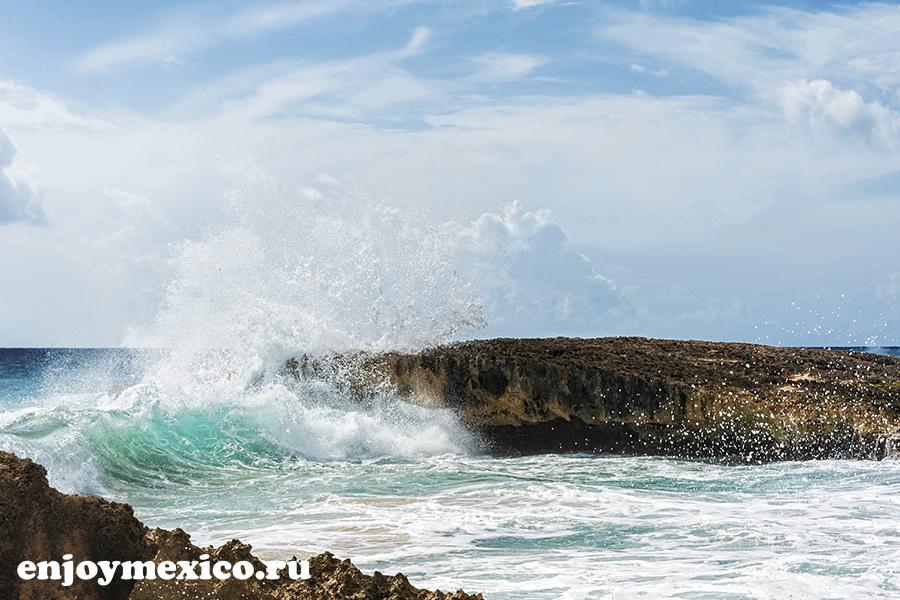 бущующее море косумель