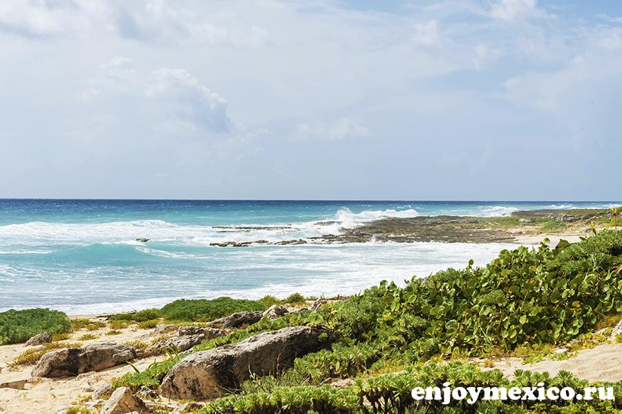 пляж и природа косумель