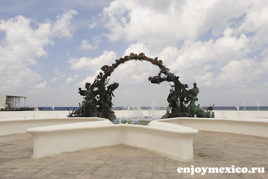 скульптура дайверам косумель