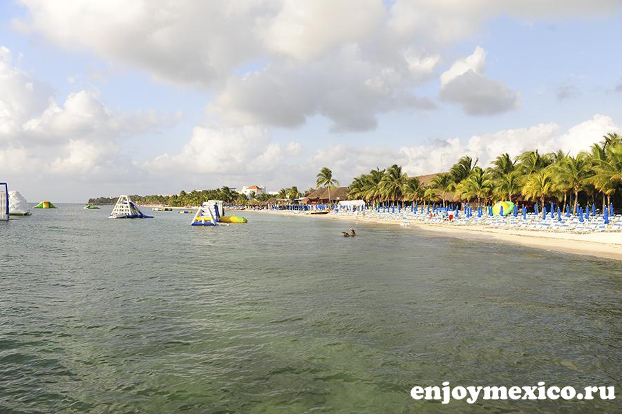 вид на пляж косумель мексика