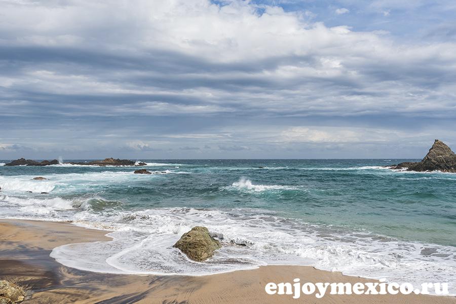фото пляж масунте мексика