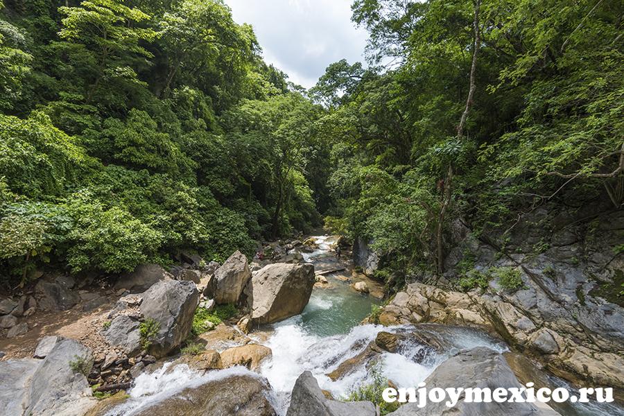 фото водопад уатулько мексика
