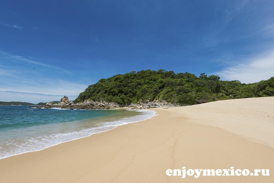 красивый пляж техонсито уатулько мексика