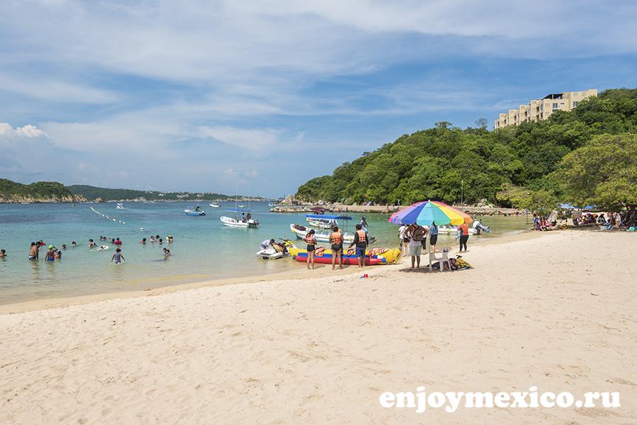мексика пляж уатулько энтрега