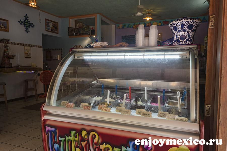 мороженое в зиполите мексика