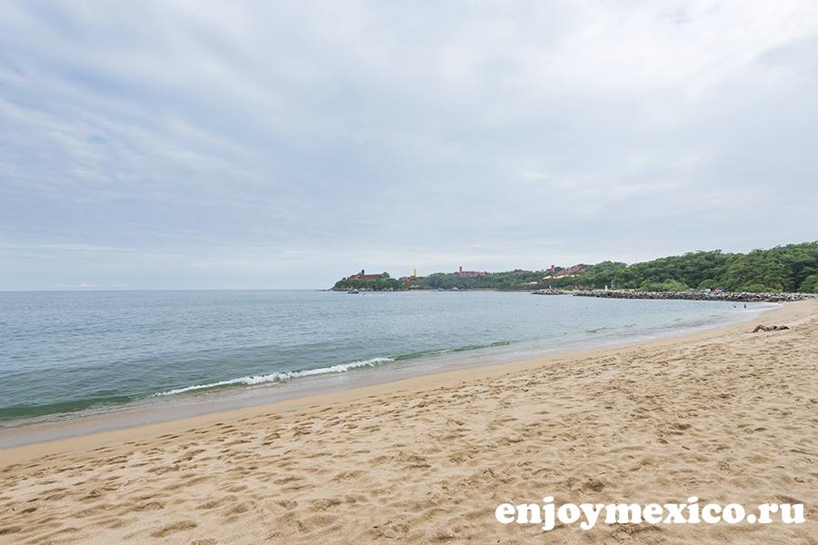 общий вид на пляж танголунда уатулько мексика