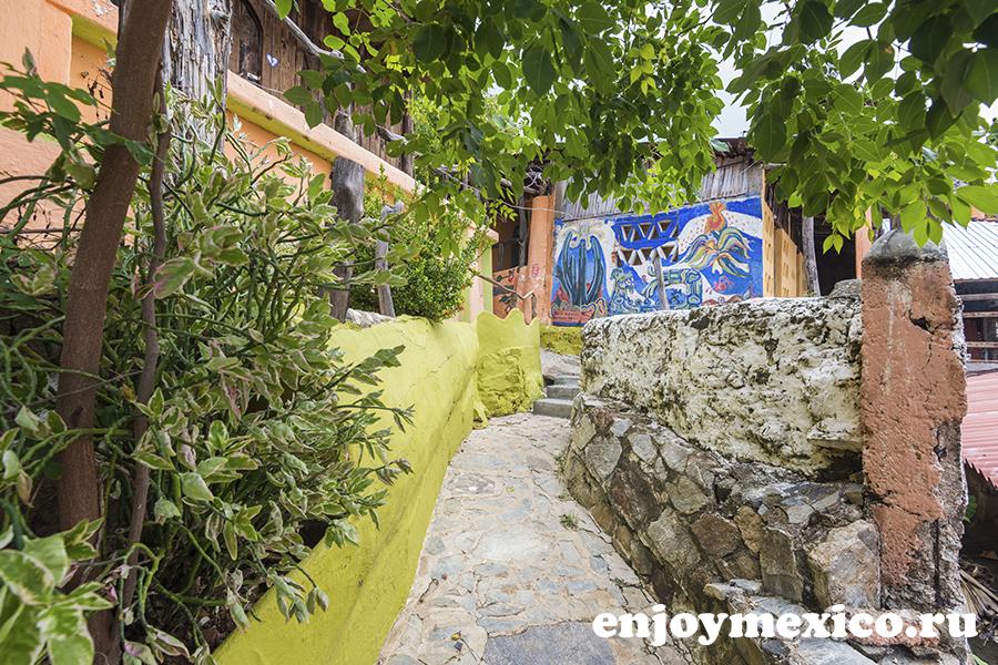отель шамбала зиполите мексика дизайн