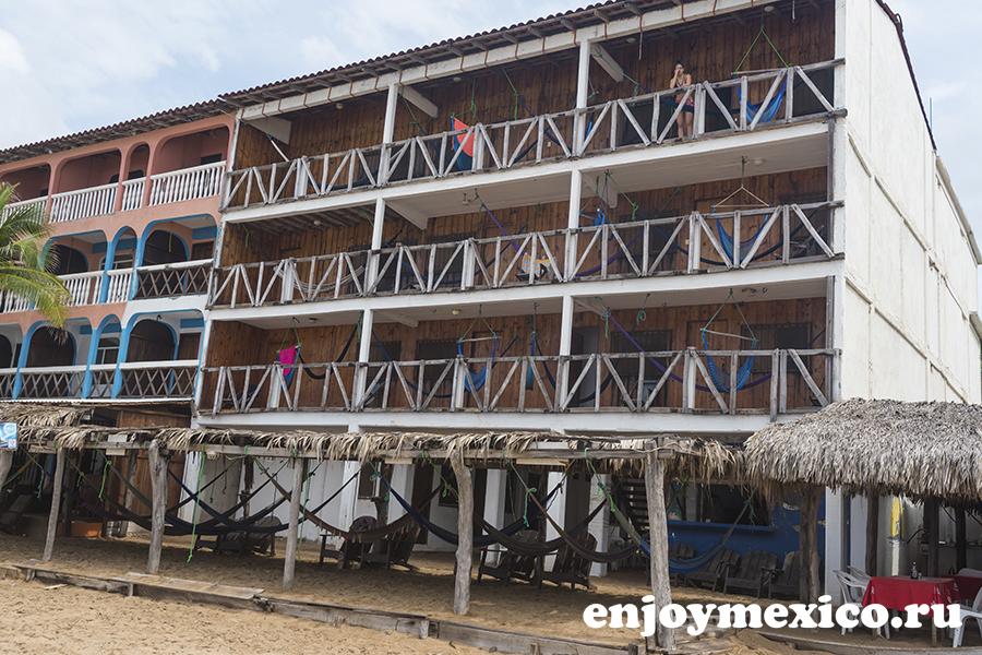 отель в зиполите мексика