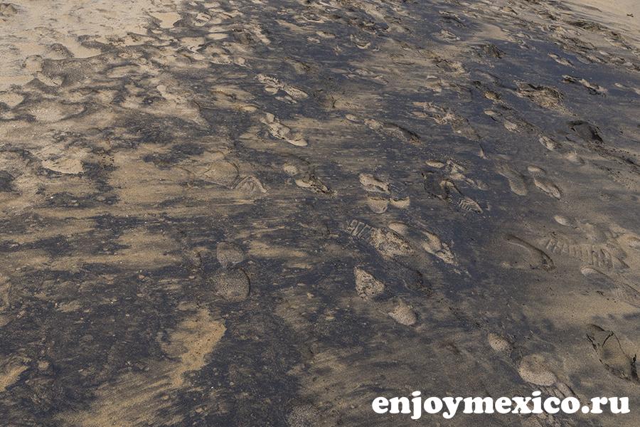 песок на пляже масунте мексика