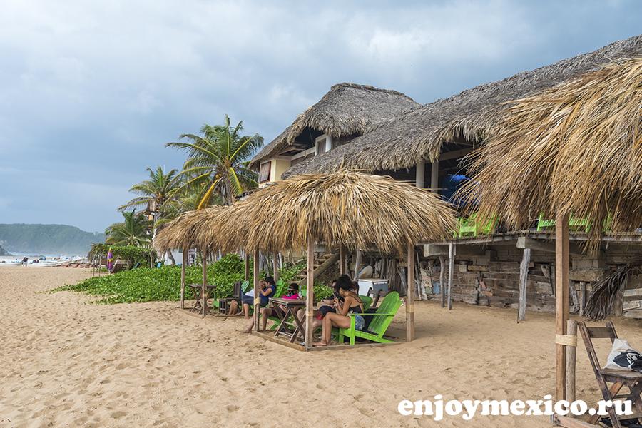 пляж бар сан агустинилло мексика