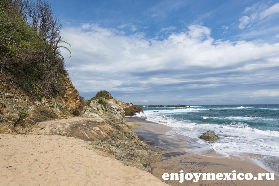 пляж масунте мексика пейзаж