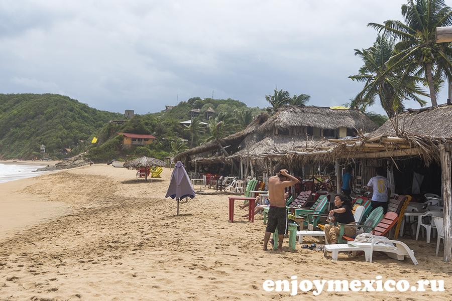 пляж масунте в мексике
