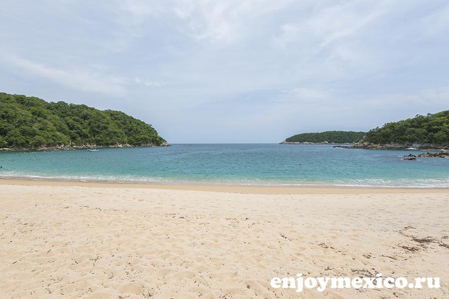 пляж органо уатулько в мексике