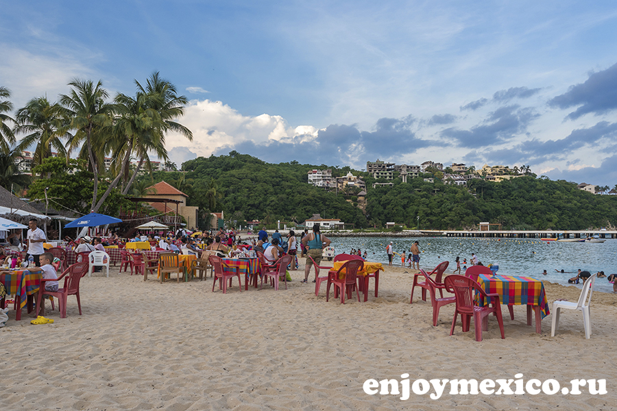 пляж санта круз уатулько мексика