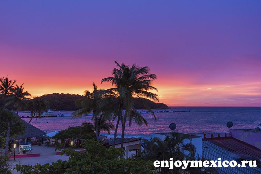 пляж санта круз уатулько восход солнца