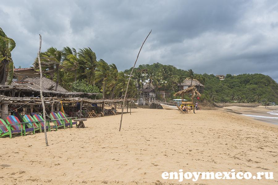пляж в масунте мексика