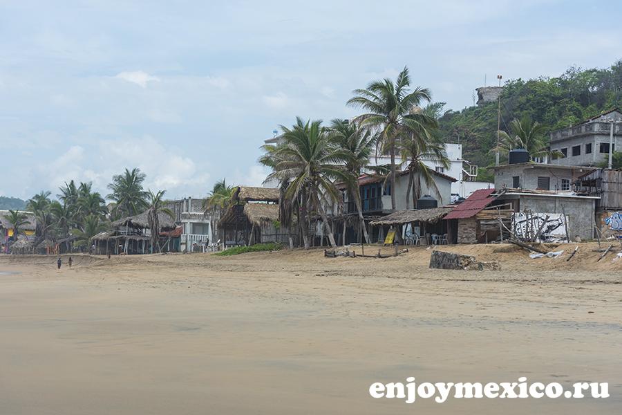 побережье зиполите мексика