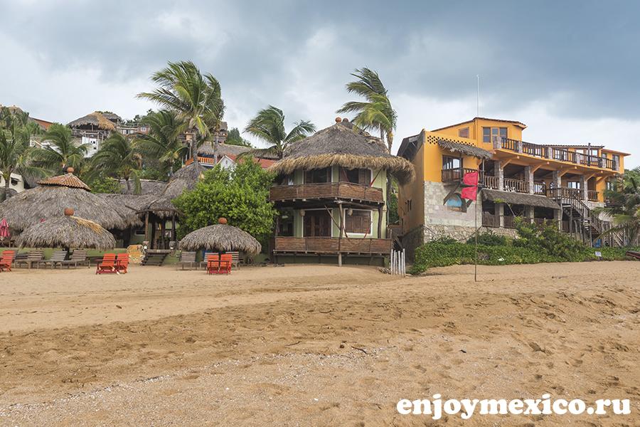 сан агустнилло мексика пляж