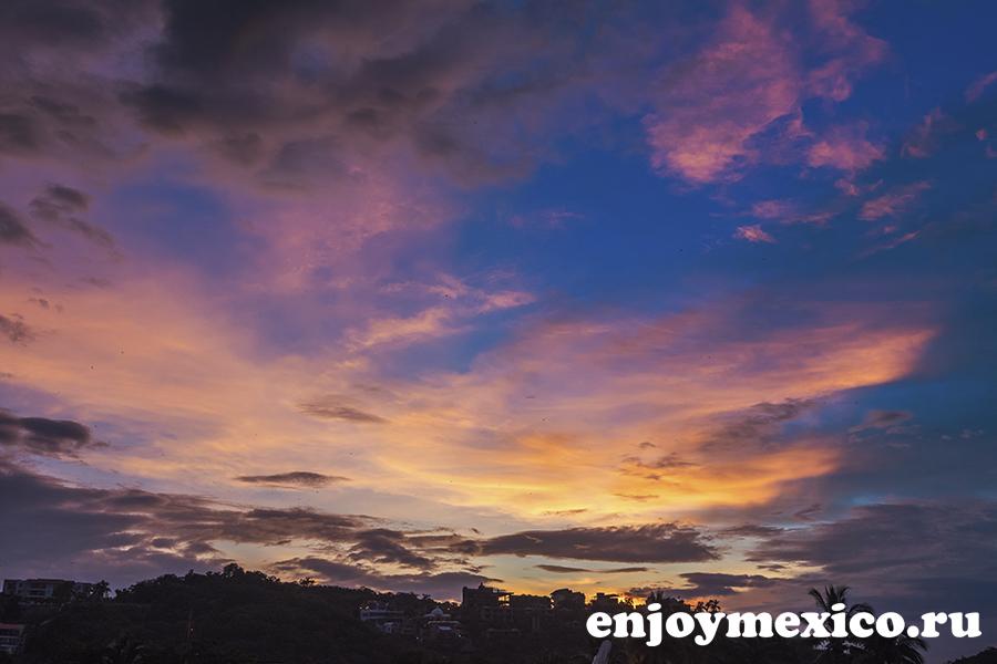 восход солнца мексика