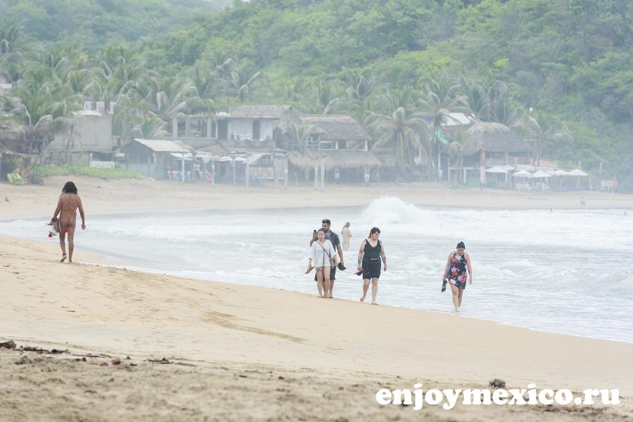 зиполите мексика пляж нудистов