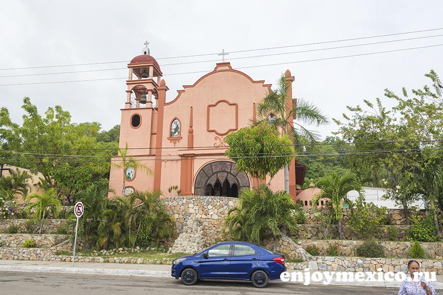 церковь в центре уатулько